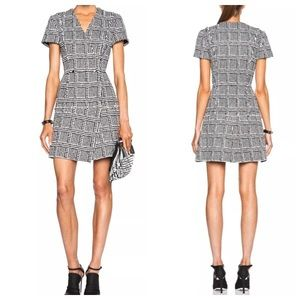 Proenza Schouler Boucle Tweed A Line Dress Size 8